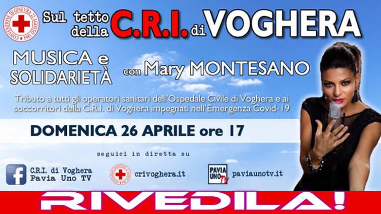 Mary Montesano live dal tetto della C.R.I. di Voghera!